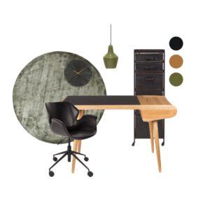 thuis werkplek Stylingspakket bold green