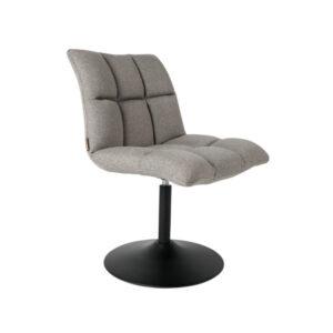 dutchbone eetkamerstoel mini bar licht grijs textiel 56x65x86cm