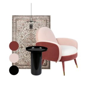 woonkamer stylingpakket compleet Old pink