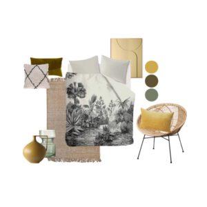 Slaapkamer styling compleet Yellow Forest