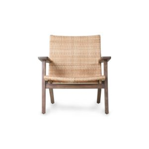 HKliving fauteuil woven lounge chair bruin rotan